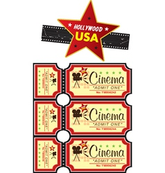 Cinema tickets vector