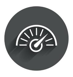 Tachometer sign icon revolution-counter symbol vector