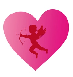 Cupid silhouette 3 vector