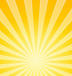 Yellow bright light beams vector
