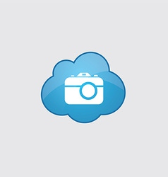 Blue cloud camera icon vector