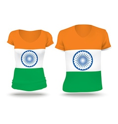 Flag shirt design of india vector