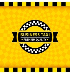 Taxi symbol with checkered background - 01 vector