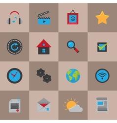 Mobile social media icons vector