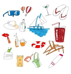 All kinds of travel stuff vector