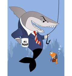 Business shark is a good boss vector