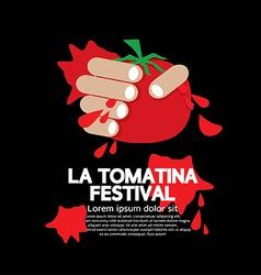 La tomatina festival vector