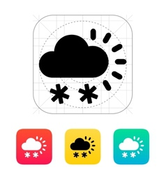 Snowfall weather icon vector