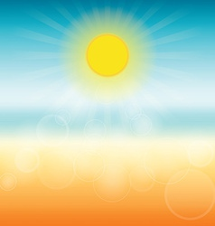 Blurred summer background sun shines brightly vector