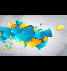 Abstract form bubbles in the style of graffiti vector