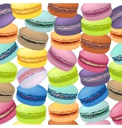 Seamless pattern with colorful macaroon cookies vector