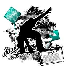 Snowboarding grunge vector