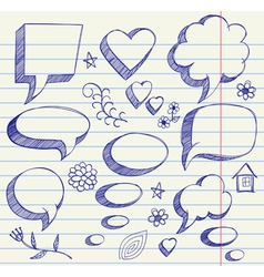Hand drawing on paper sheet vector