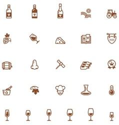 Wine icon set vector