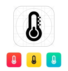Thermometer with minus weather icon vector