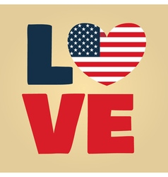 Love usa amerika vector
