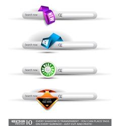 Website menu tabs vector