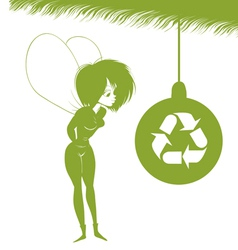 Environmental xmas fairy vector