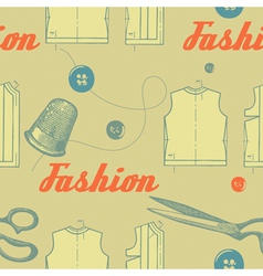 Vintage fashion clothing pattern vector