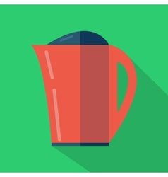 Modern flat design concept icon kettle tea and vector