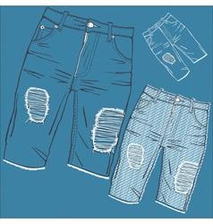 Shabby jeans vector