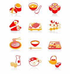 Sushi-bar icons  juicy series vector