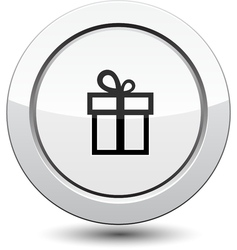 Button with gift vector
