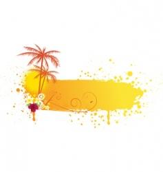 Grunge summer banner vector
