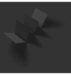 Blank folded paper brochure mockup vector