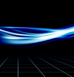 Blue futuristic abstract energy speed wave vector