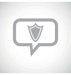 Shield grey message icon vector