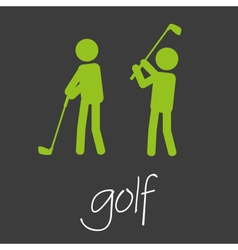 Golf sport commercial design banner and background vector