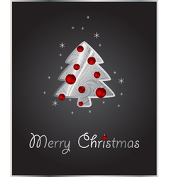 Stylized xmas tree vector