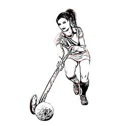 Field hockey vector