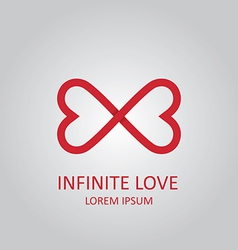 Infinite love logo vector