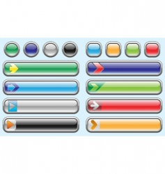 Shiny internet buttons set 3 vector
