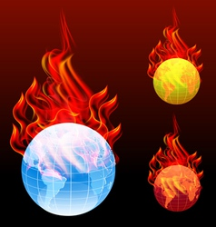 World burn vector
