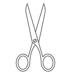 Scissors symbol vector