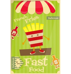 French fries vector