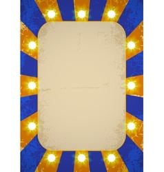 Circle poster blue vector
