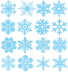 Snowflake silhouettes vector