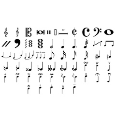 Musical symbols and notes vector