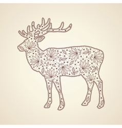 Christmas lace deer vector