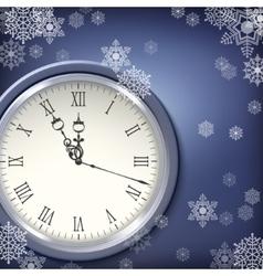 Christmas antique clocks vector