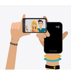 Selfie design vector