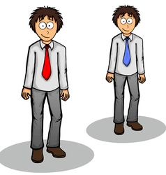 Boy standing cute drawing expression friendly vector