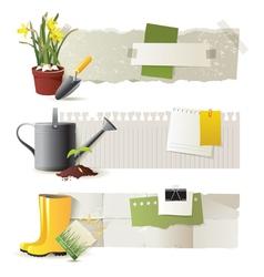 Gardening banners vector