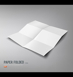 Paper folded six fold for business design vector