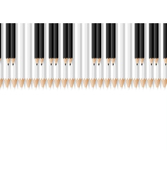 Keys of a musical instrument consisting of pencils vector