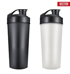 Mockup plastic sport nutrition drink container vector